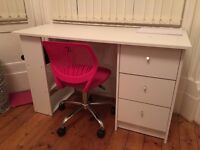 Desk + chair for sale: Good condition £30