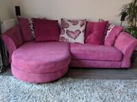4 Seater fabric sofa in excellent condition