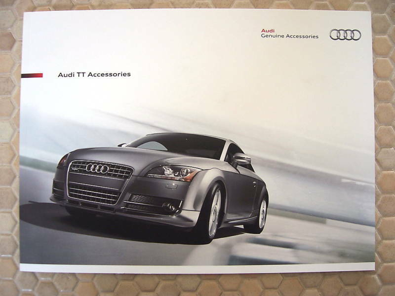 AUDI OFFICIAL TT TTS COUPE ROADSTER ACCESSORIES BROCHURE 2010 USA EDITION.