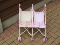 BABY BORN. TWIN DOLLS PUSHCHAIR. IN EXCELLENT CONDITION.