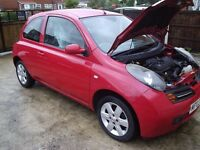 Nissan micra 1.4 2003 Dual controls for learner drivers.
