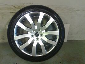 ALLOYS X 4 OF 20 INCH GENUINE RANGEROVER SUPERCHARGED FULLY POWDERCOATED IN A STUNNING SHADOW/CHROME