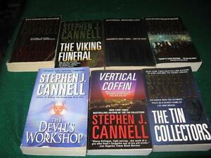 Stephen J cannel books  $5 for the lot