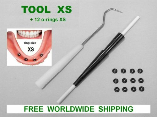 TOOL XS  mini dental implant o-ring insertion replacement + 12  o-rings size XS