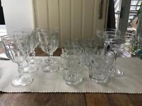 Wine glass and tumbler set