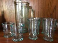Bacardi jug and glasses set