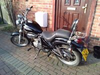 2003 Gilera Coguar 125 chopper style motorcycle, new 1 year MOT, learner legal, good runner, bargain