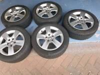 5x genuine audi vw alloy wheels 16 inch pcd 5x112