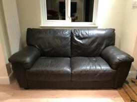 FREE Brown Faux Leather Sofa