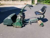 Ride on roller mower