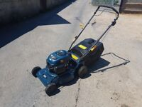 MACALLISTER PETROL LAWNMOWER 5.5HP SELF DRIVE SERVICED - CLEANED - VGWO £129. ono P/X Considered