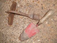 old used garden tools
