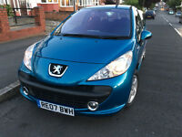 Bargain Peugeot 207, Blue, 1.4 Litre, Low Insurance, 1 Owner from New, Alloys, Sony System Bluetooth