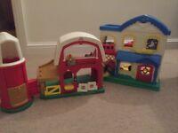 2x happy land toys - farm and house