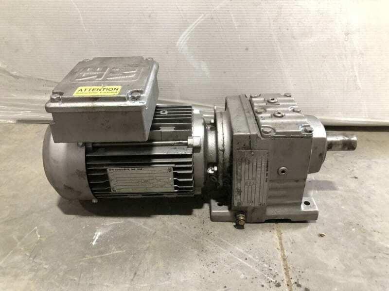 Sew-Eurodrive R37DT80N4 Gear Drive/Speed Reducer 210lb-in 5.67:1 1HP 1700RPM 3PH