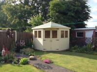 8ft x 8ft corner shed/ summerhouse