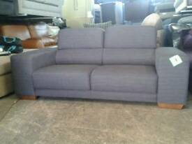 Ex display designer 2 seater in grey fabric only £155