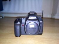 Canon 5D Mark II with batteries and CF card