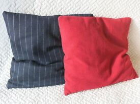 Felt cushions - navy blue / bordeaux red 50 x 48 cm