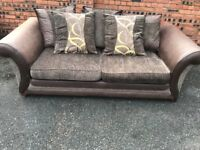 DFS large two seater sofa, couch, settee, scatter back (free local delivery)