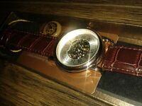 Brand new in box skeleton vintage design wrist watch