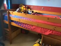 Mid sleeper bed good condition