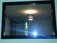 black gloss framed mirror Not wood large