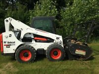 Brush Mulcher and Skid Steer Work