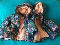2 x age 3-4 fleece lined padded M&S coats