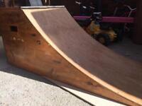 Quarter 1/4 pipe ramp. Bmx skate scooter launch ramp. Marine grade ply. Yacht vanish