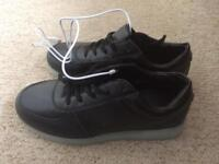 Black Simulation Flashing Trainers - Size 9