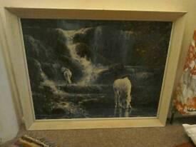 Framed horse print - good frame
