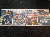 Wii for sale with games and 4 controllers