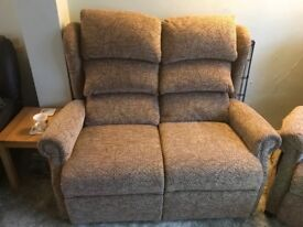 Lift and recline chair + 2 seater sofa