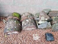 Coping Stones reclaimed weathered and some assorted masonry