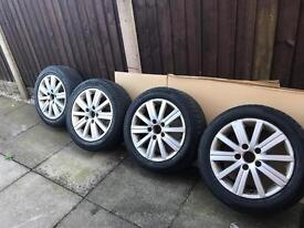 Alloys and tyres for VW golf mk5 mk6