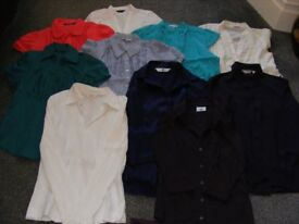 Job Lot Blouses 10 Items All Size 8 (Willing To Sell Separate).