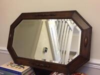 Vintage oak surround mirror