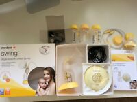Medela Swing Electric Breast Pump - Boxed as new with spare bottles