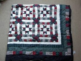 FOR SALE PATCHWORK QUILT BED COVER