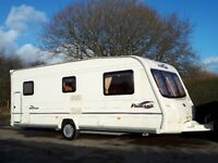 Bailey Pageant Bretagne 6 Berth Caravan With Fixed Bunk Bed & Awning
