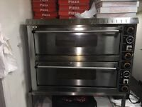 Imperial double deck electric pizza oven heavy duty single phase 8 12inch pizza at one time