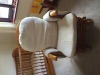 Beautiful nursing chair and stool