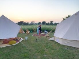 End of glamping season!!! 5m bell tents for sale. Half price bell tents, ONLY 20 available.