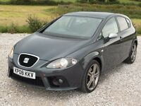 SEAT LEON 2.0TDI FR LADY OWNED FULL SERVICE HISTORY 12M MOT CAMBELT CHANGED DPF REPLACED HPI CLEAR