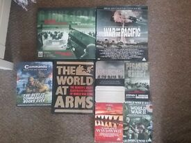 War dvds and books includes band of brothers