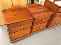 PAIR OF MATCHING BEDSIDE TABLES IN PINE