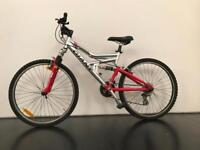 Giant Mountain bike, red, full suspension good condition