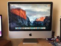 iMac 20 inch. 2.4 GHz Intel Core 2 Duo - 4GB RAM. OS X El Capitan. Apple Mac Desktop PC