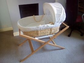 Bundle - cotbed, moses basket, changing table, travel cot
